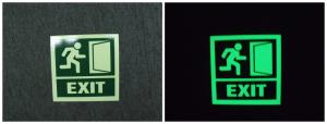 China Aluminium Photoluminescent Signs/Glow in The Dark Safety Signs/Emergency Exit Path Marking on sale