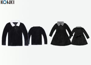 China Long Sleeve Custom School Uniform For Winter , Girls Corduroy Shirt Dress on sale
