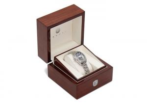 China Classical Single Watch Presentation Box Gloss Lacquer Solid Wood Material on sale