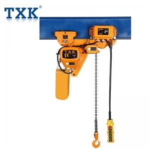 China 1 Ton Low Low Headroom Hoist And Trolley , Manually Trolley Construction Hoist Work Shop Usage on sale