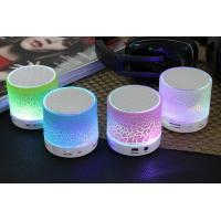 Mini Wireless Portable Bluetooth Speaker with LED and Built-in Mic Support AUX TF