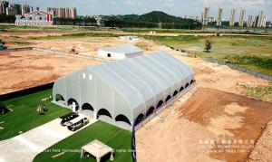 China 25x40m curve tent for outdoor sport events and temporary activities on sale
