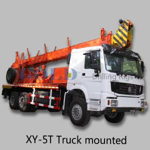 China mining exploration drill rig XY-5T wire line diamond core drilling truck on sale