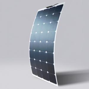 China Semi Thin Flexible Solar Panels , 12v 100w Ultra Thin Solar Panels 2 Years Warranty on sale