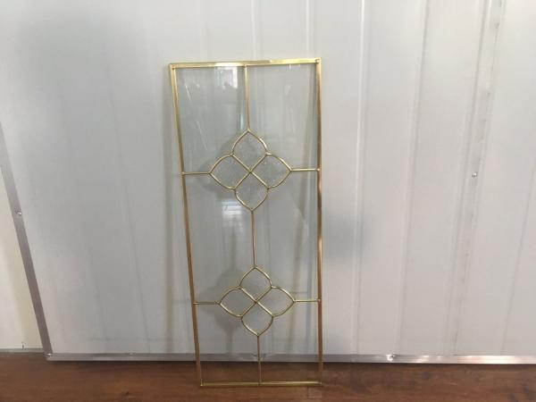 Transparent Kitchen Cabinet Glass Metal Frame Beveled Edge Heat