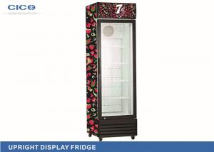 China Commercial 180L Upright Display Refrigerator With Single Door Low-e Glass supplier
