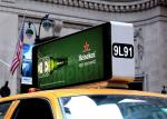 Great Waterproof Outdoor Fixed LED Display Moving Text Advertising Taxi Top Screen