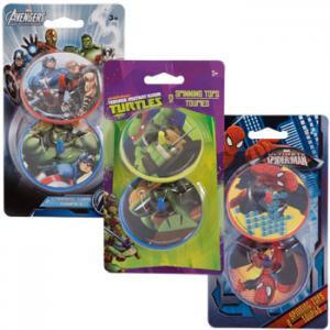 China Funny Plastic Spinning Top Toys , Teenage Mutant Ninja Turtles on sale