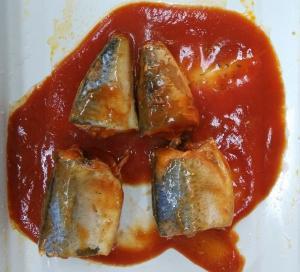 China Soft Taste Mackerel Canned Fish / Tinned Mackerel In Tomato Sauce No Impurity on sale
