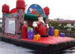 Jungel Inflatable Toddler Playground , Santa Claus House Outdoor Bouncy Castle