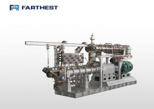 China Double Screw Floating Fish Feed Making Machine , Aqua Feed Steam Extruder Equipment on sale