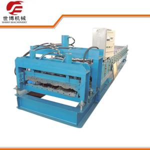China Glazed Roofing Tile Cold Roll Forming Machine For Building Roof on sale