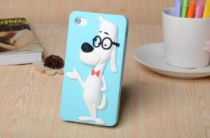 China The new creative genius glasses dog silica gel protective sleeve Apple following on sale