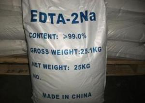 China Disodium  EDTA  Chelator Ethylene Diamine Tetraacetic for shampoo, cream,dishwashing on sale