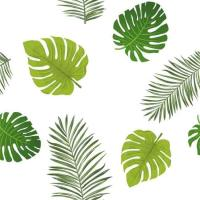 Summer Leaves Clear Printed Vinyl Table cloth | PVC Table cover