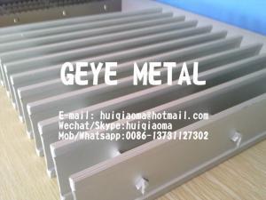 China Anti-Slip Aluminium Grooved Swage-Locked I-Bar Grating, Light Weight Aluminum Bar Gratings on sale