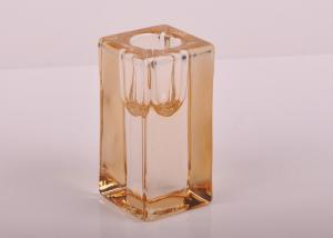 Quality Tall Cylinder Square Recycled Glassware Glass Tealight Candle Holders for sale