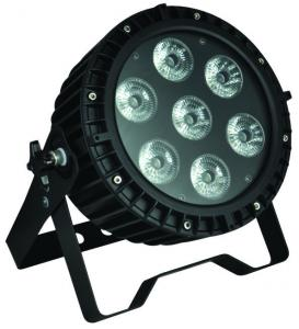 Quality Professional Stage LED Par Can Lights , 7pcs 12W RGB LED Flat Par for sale