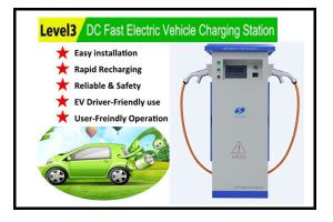 Level 3 Evse Quick Dc Ev Charger For All Electric Vehicle Super Fast Charging