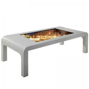 Quality 43 Inch Floor Stand Infrared Multi Touch10 Points Interactive Coffee Table for sale
