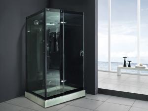 China Monalisa M-8290のシャワーの高級ホテルの別荘リゾートが付いている屋内緩和されたガラスの蒸気のシャワー室のヨーロッパ式の蒸気部屋 on sale