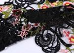 Wedding Supplies Polyester Mesh Lace Fabric With 3d Flower Decoration