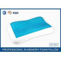 Contour memory foam cooling gel pillow in Summer for relieving neck fatigue