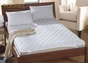 China White Hotel Hypoallergenic Mattress Cover Anti Bacteria Air Permeable on sale
