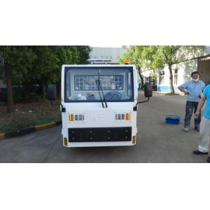 White FAAM Baggage Towing Tractor Carbon Steel Material Low Consumption