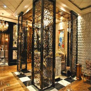 China Luxury Interior Design modern home furniture stainless steel decorative partition screen wall divider on sale