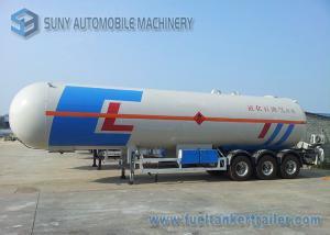 China 58500 liters tri-axle LPG tank trailer 24.5MT , LPG gas tanker semi trailer on sale