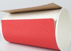 China 16oz Milk Tea Disposable Double Wall Biodegradable Kraft Paper Cups on sale