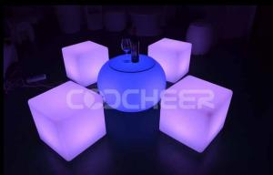 China Plastic LED Outdoor Furniture , Lounge contemporary outdoor furniture on sale
