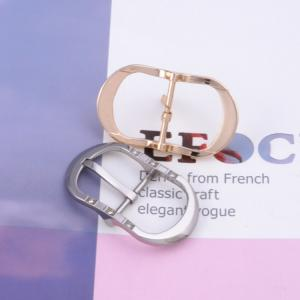 China Silver Color Single Needle Mens Metal Belt Buckles Fashionable With Zinc Alloy Material on sale
