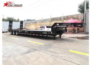 China 3 Line 6 Axles Hydraulic Low Bed Trailer With Heavy Duty Bogie Suspension on sale