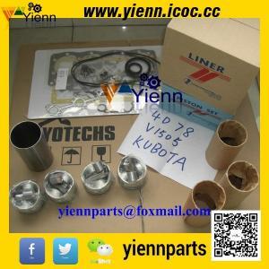 China Kubota V1505 piston +ring+liner+full gasket kit with head gasket for KH71 KX71H KX91 excavator engine overhual rebuild on sale