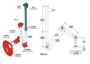 China Chemical Laboratory Fittings , Ceiling Laboratory Fume Extraction Arms on sale