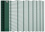 High Security 358 Wire Mesh Fence Anti Climb Powder Coated Black Or Green Color