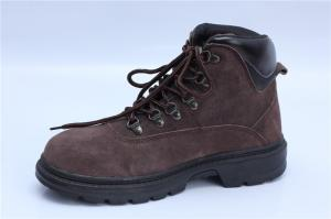 China suede leather safety shoes Rubber sole safety boots for work NO.9045-1 on sale