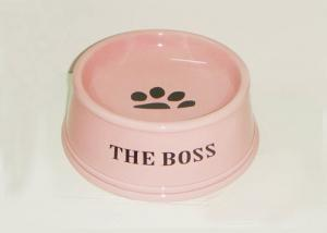 China Porcelain Ceramic Treat Jar / Ceramic Pet Food Bowls With Customized Decal on sale