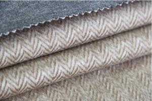 China Heavy Classic Wool Upholstery Fabric Herringbone Twill Cloth Alpaca Woolen Fleece on sale