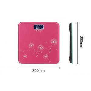 China Square 300x300MM Bathroom Digital Scales , Pink Electronic Weight Scales on sale