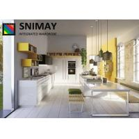 China Custom Lacquer Italian Kitchen Cabinets / Modern Kitchen Furniture For Hotel on sale