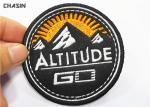 Twill Material Baseball Hat Embroidery Round Patches With Glue Backing