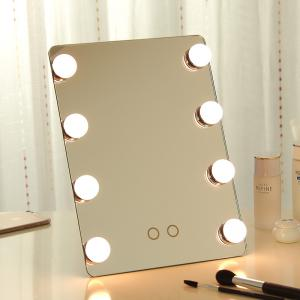 China led makeup mirror with bulb ,hollywood mirror with led bulbs can be wall mounted on sale