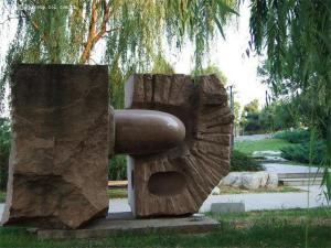 China Red Granite sculpture in park on sale