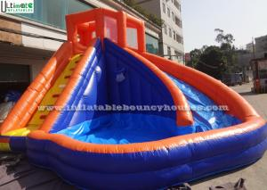 China Backyard Kids Banzai Inflatable Pool Water Slides Made Of Lead Free PVC Tarpaulin on sale