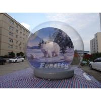 Christmas Outdoor Decoration 5M Giant Inflatable Human Snow Globe