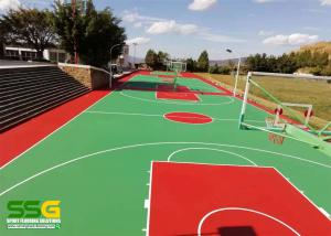 Quality SPU Silicone Polythane Tennis Court Surfacing with ITF Approval for sale