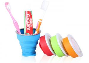 China 200 Ml Silicone Telescopic Gargle Folding Cup /Toothbrush Cup / Mug For Travel on sale